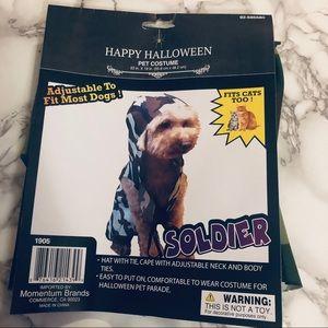 NEW Pet Halloween Dog/Cat Costume Soldier